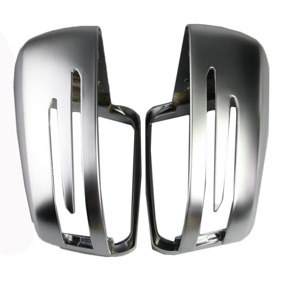 Replacement Silver Matte Chrome rearview mirror cap Housings for Mercedes Benz A B C E S Class W204 W212 W246 W221 abs mirror cover chrome matt painted cap side mirror housings for volkswagen jetta golf 5 passat b6 ct