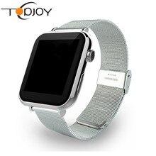 Smart watch a9นาฬิกาซิงค์แจ้งเตือนสนับสนุนซิมการ์ดการเชื่อมต่อบลูทูธสำหรับiosโทรศัพท์a ndroid smartwatchโลหะผสมsmart watch