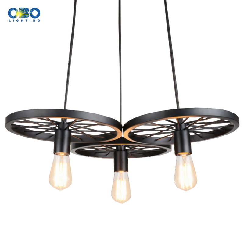 Új stílus Vintage vas festett medál lámpa díszítés egyszerű medál világítás beltéri szoba otthon E27 110-240V Ingyenes szállítás