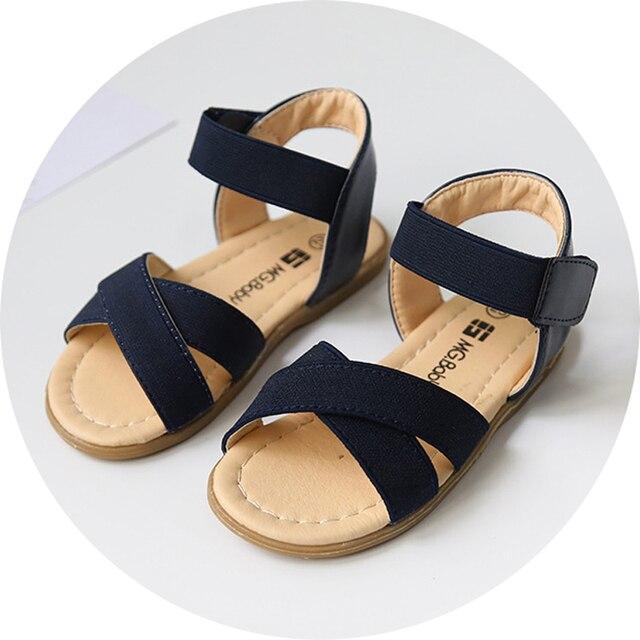 2017 Летний новый девушки сандалии корейский стиль дети летняя обувь резинка малышей девочки сандалии первая ходунки size21-30