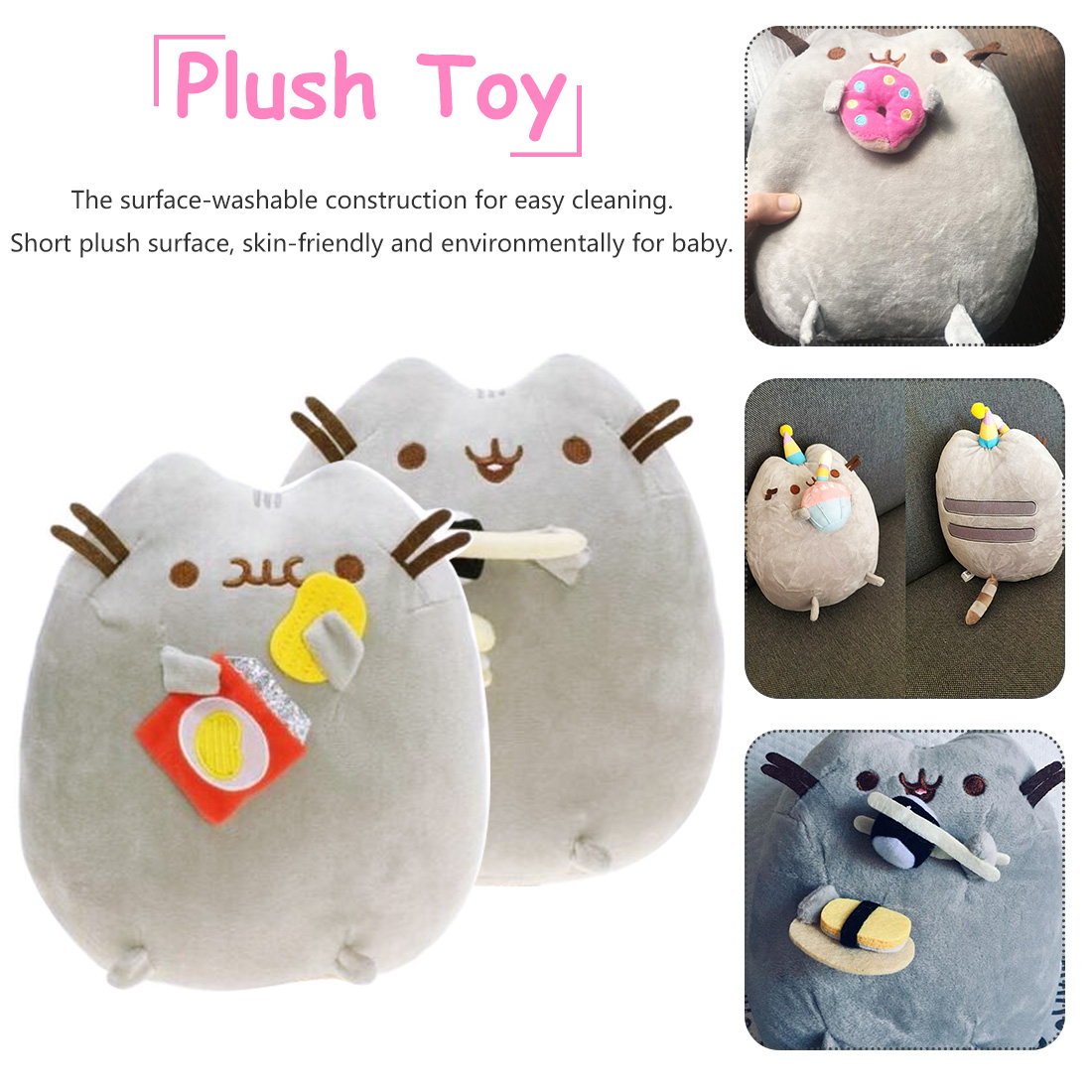 Super Cute Plush Toys Donuts Cat Sushi Cookie Icecream Cake Style Plush Soft Stuffed Animals Toys For Children Kids Gift