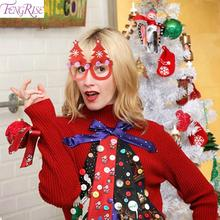 FENGRISE Merry Christmas 2019 Glasses Frame Adult Kids Xmas Gifts Decor Decoration Noel Happy New Year 2020