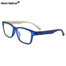 Gmei optical urltra luz tr90 aro completo óculos ópticos masculinos quadros de plástico feminino miopia eyewear 7 cores opcionais m1011