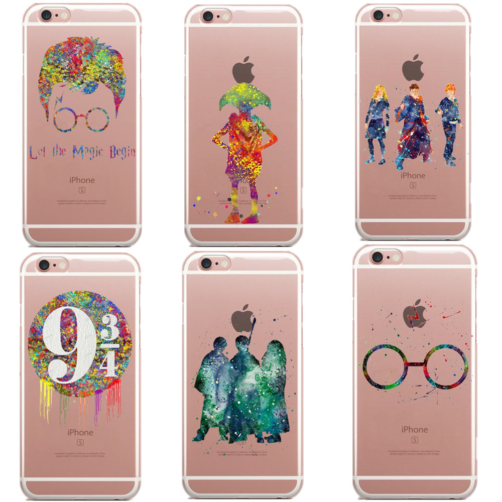 Avada Kedavra Harry Potter Bitch deer Harry Potter Watercolor Art Soft Clear TPU Phone Case Cover