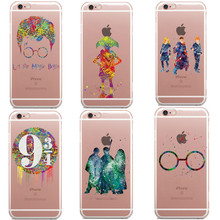 Avada Kedavra Harry Potter Bitch deer Harry Potter Watercolor Art Soft Clear TPU Phone Case For iPhone 5C 5s 6 6s 7 8 Plus X SE(China)