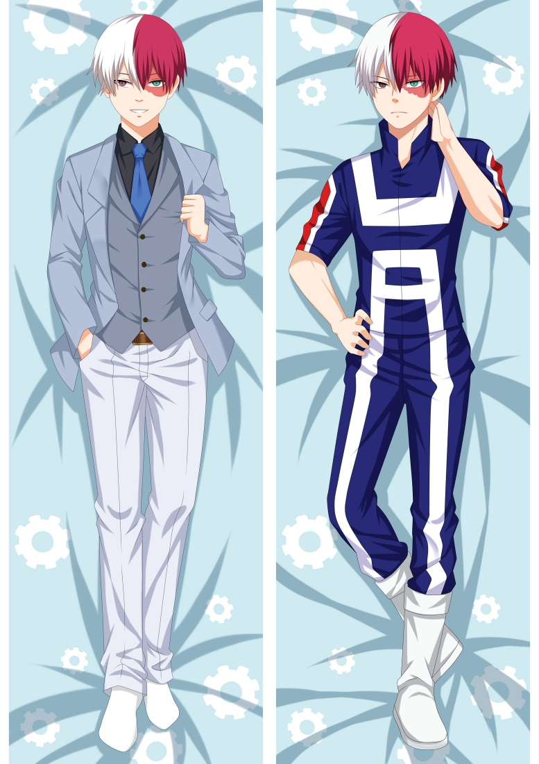 Japanese Anime Boku No My Hero Academia Male Hugging Body Pillow Pillowcase Otaku Dakimakura Case Cover