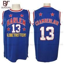 9b2db93024d 2017 New Cheap Wilt Chamberlain #13 Harlem Globetrotters Throwback Basketball  Jersey Blue Retro Stitched Basket Shirts