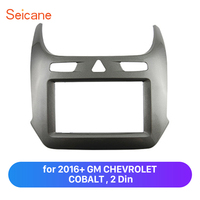 Seicane Double Din Stereo Fascia Panel Frame Replacement Kit for 2016+ GM CHEVROLET COBALT OEM Mount Trim Plate