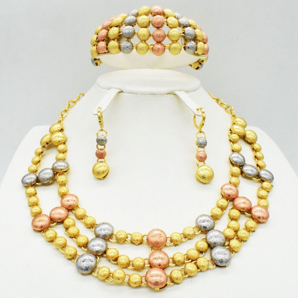 2019 Fashion  African Beads Jewelry Set for Women Exquisite Flash Dubai Gold Color Nigerian Wedding Bridal Cheap Wholesale2019 Fashion  African Beads Jewelry Set for Women Exquisite Flash Dubai Gold Color Nigerian Wedding Bridal Cheap Wholesale