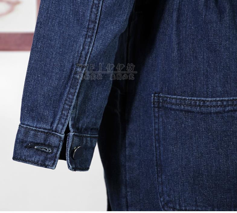 Automne Salopette Nouveau Rétro Denim Printemps Jeans Pantalon Femmes 2019 En Barboteuses Décontracté De Safari Style Dark Blue Combinaison E6dqCdxw
