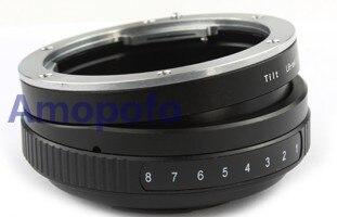 Adaptateur d'objectif inclinable Amopofo LR-M4/3 pour objectif de montage Leica R L/R vers Micro quatre tiers M4/3