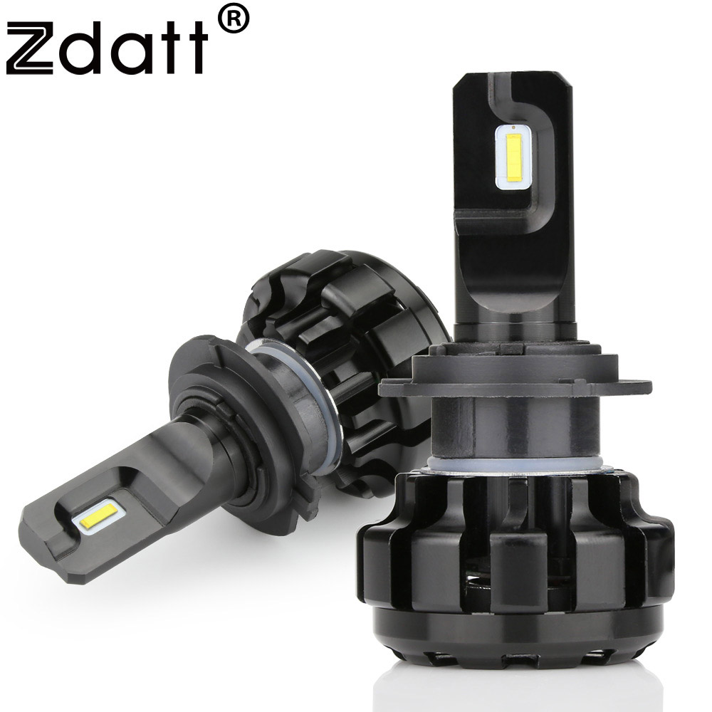 Zdatt Super Bright Car Headlights LED H4 H7 9005 H8 H9 H11 H1 Auto Bulb 100W 12000LM Automobiles Headlamp 6000K Canbus Car Light novsight h11 led car light 60w set 12000lm auto headlights bulb 12v 24v automobile headlamp fog light 6000k lighting