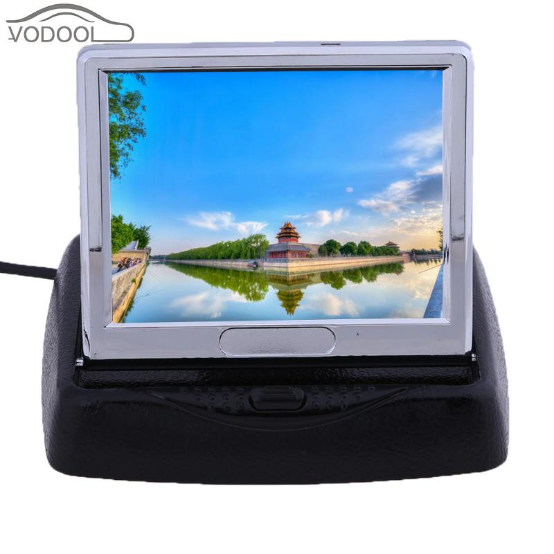 3.5 TFT LCD Car-styling Folding Backup Monitor 2-Way Video Input Car Rear View Backup Reverse Parking Display Monitor for Auto