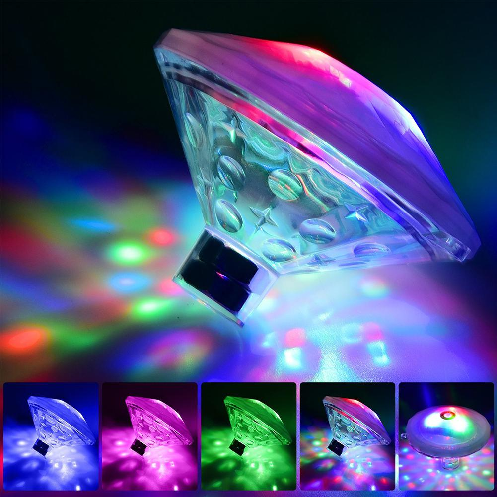 LeadingStar Colourful Kids Flying Saucer Bathtub Light Waterproof Bathing Toys Floating Lamp for Bathtub Swimming Pool zk30