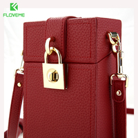 FLOVEME 5 5 Universal Litchi Pattern Leather Wallet Case For IPhone 7 7 Plus 6 6s