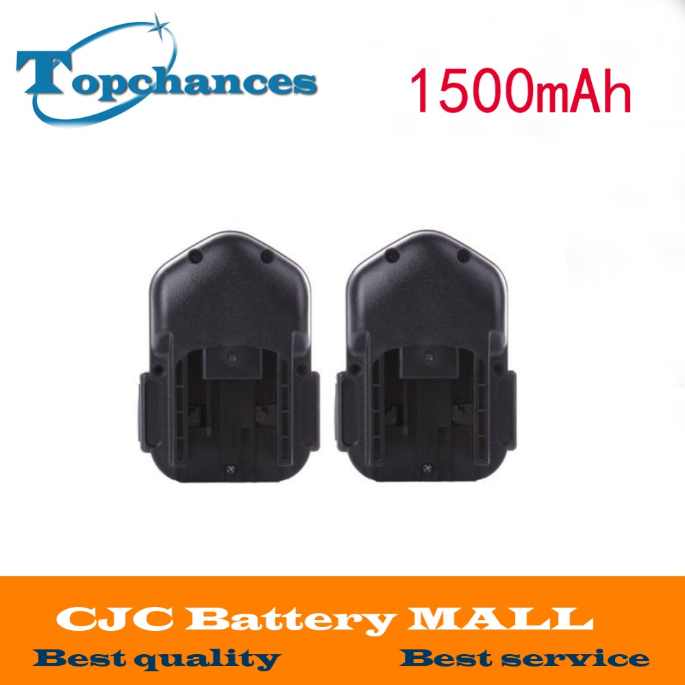 2pcs Battery For MILWAUKEE 14.4V 1500mAh 48-11-1000 48-11-1014 AEG BSB 14 STX