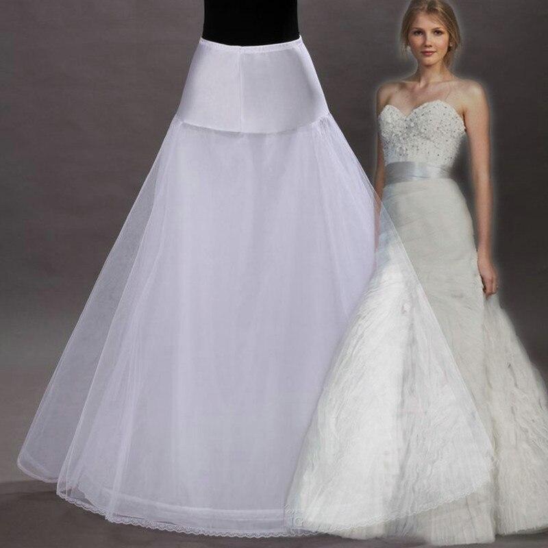 2018 Long Tulle Wedding Petticoat White Black A Line Bridal Underskirt for Bride Prom Dress  High Quality Wedding Skirt