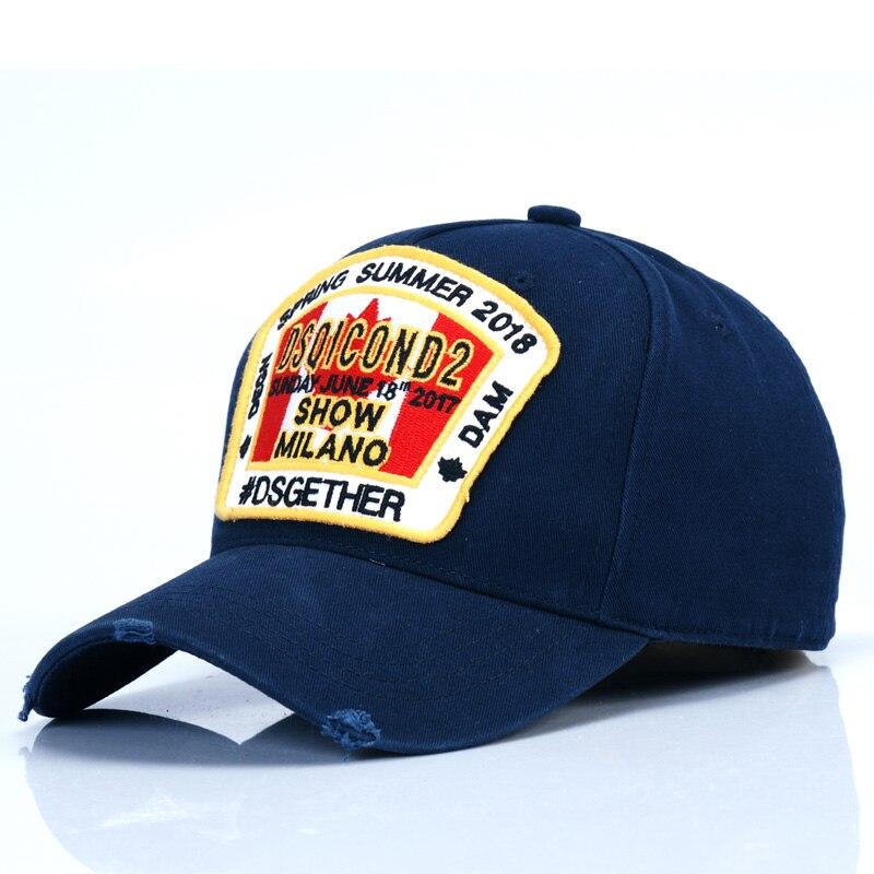 DSQICOND2 Baseball-Cap Casquette Dad Hat Summer Women Casual High-Quality Brand Cotton