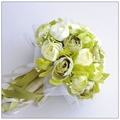 Artificial Vintage Wedding Bouquets For Bride Silk Hand Holding Flowers Handmade White Green Wedding Bridal Bouquet Accessories