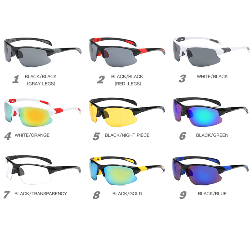 2018 UV400 Men Women Driving Sunglasses HD Lens Sport Glass Running Eyewear Windproof Bicycle Cycling Glasses Oculos Ciclismo