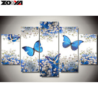 Zhui Star 5d Diy Diamond Embroidery Butterfly Flower Diamond Painting Cross Stitch Full Drill Rhinestone Mosaic