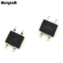 MCIGICM 100 шт. 600V 0.5A лапками углублением SOP-4 SMD выпрямительный диод мост mb6f