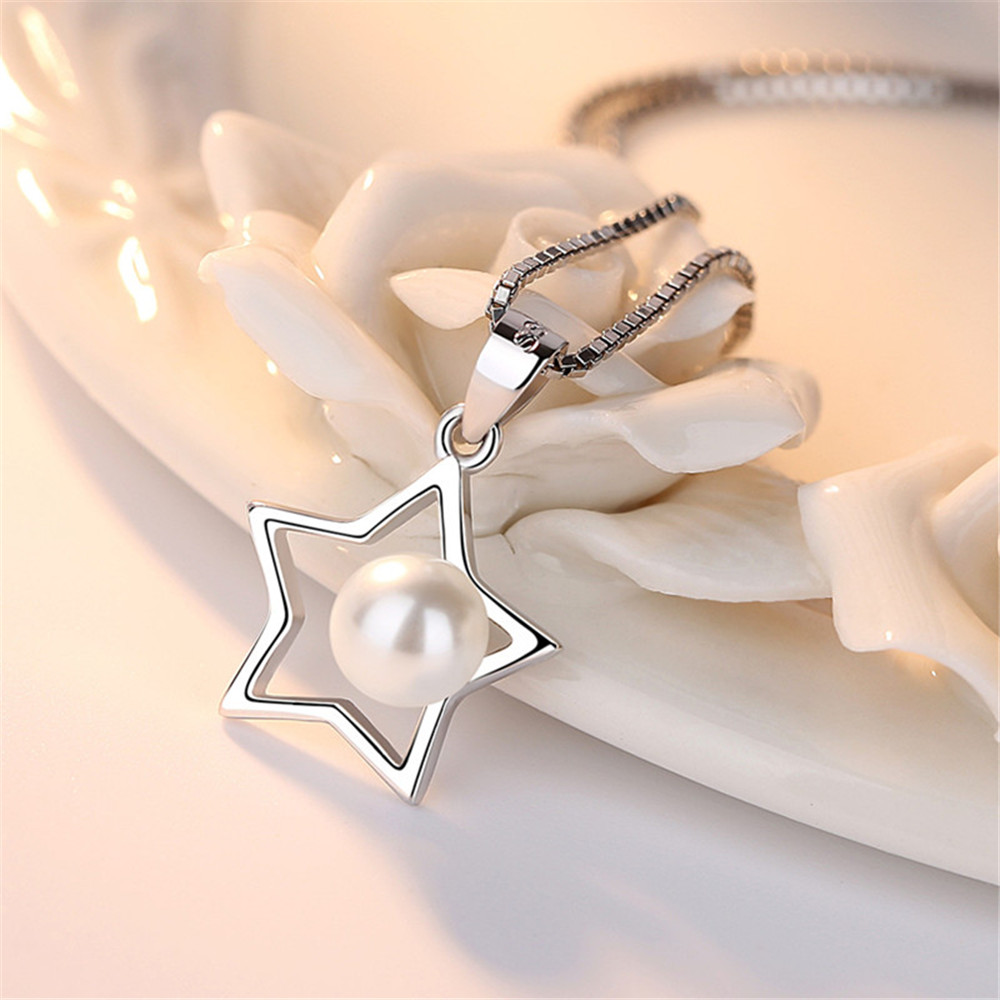 NEHZY 925 sterling silver jewelry woman Brand ladies five-pointed star necklace pendant fashion simple luxury high pearl pendant