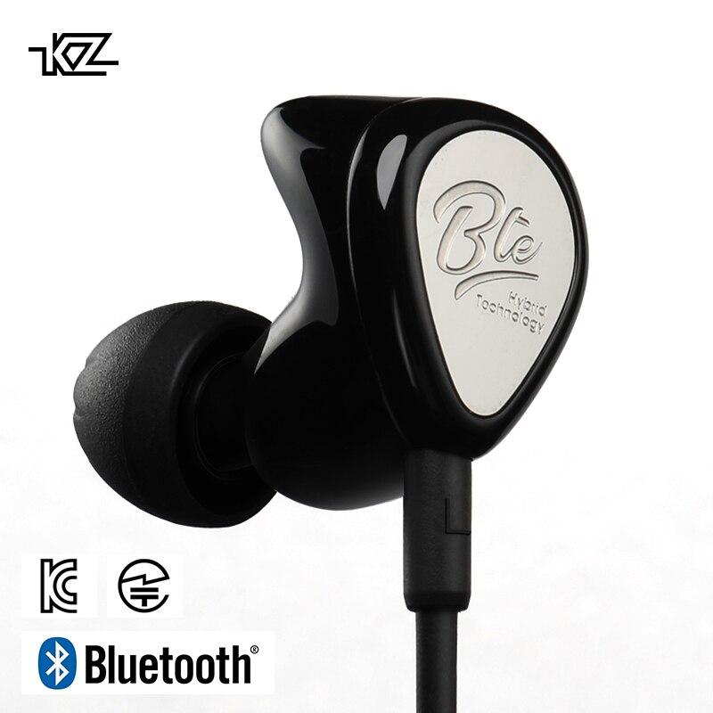 KZ BTE 1BA APTX fone de Ouvido Bluetooth Sem Fio + 1DD Híbrido APT-X IPX6 Sprots fone de Ouvido Fones De Ouvido Microfone do Fone de ouvido HIFI Portátil À Prova D' Água