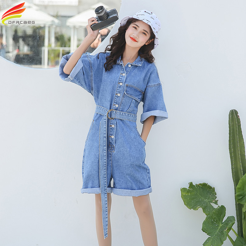 New 2018 Summer Playsuits Women Shorts Fashion Short Casual   Jumpsuits   Jeans Women   Jumpsuit   Denim Overalls Short Rompers