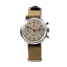 갈매기 1963 손 바람 기계식 크로노 그래프 시계 재발행 판 fkjb