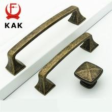 kak antique bronze brass cabinet handles vintage solid wardrobe handles pulls drawer knobs zinc alloy furniture