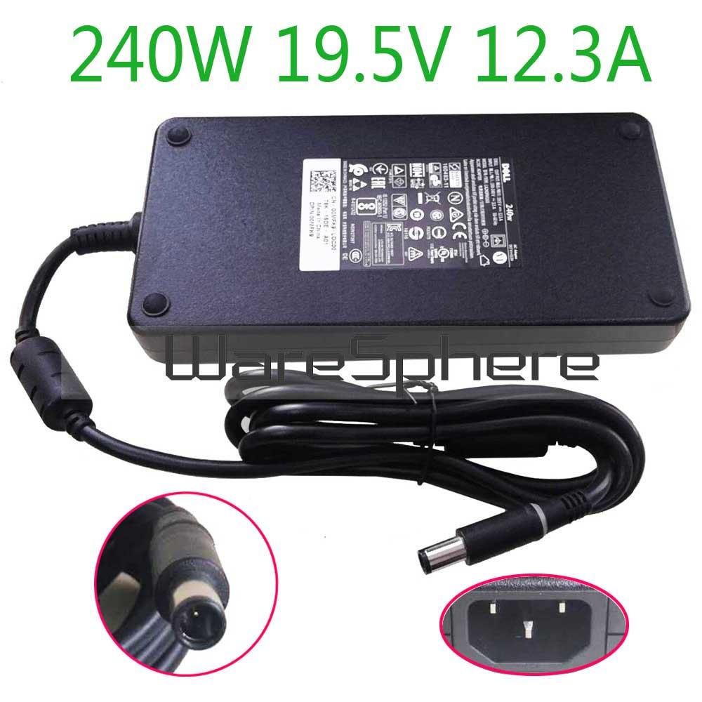 Блок питания для ноутбука Dell Alienware M17X R2 M17X R3 M6600 M6700 0MFK9 00MFK9, 240 Вт, 19,5 в, 12.3A, AC, DC, зарядное устройство