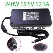 Nuevo 240W 19,5 V 12.3A PA 9E AC DC fuente de alimentación portátil cargador adaptador para Dell Alienware M17X R2 M17X R3 M6600 M6700 0MFK9 00MFK9