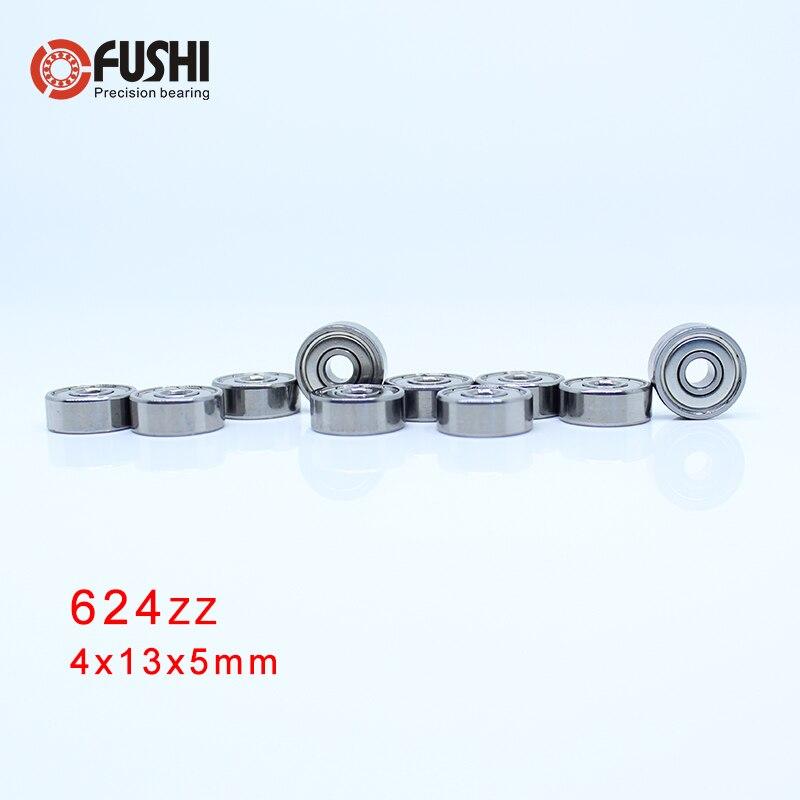 624ZZ ABEC 5 100PCS 4x13x5MM Wire Cutting Machine Miniature Ball Bearings 624ZZ EMQ Z3V3