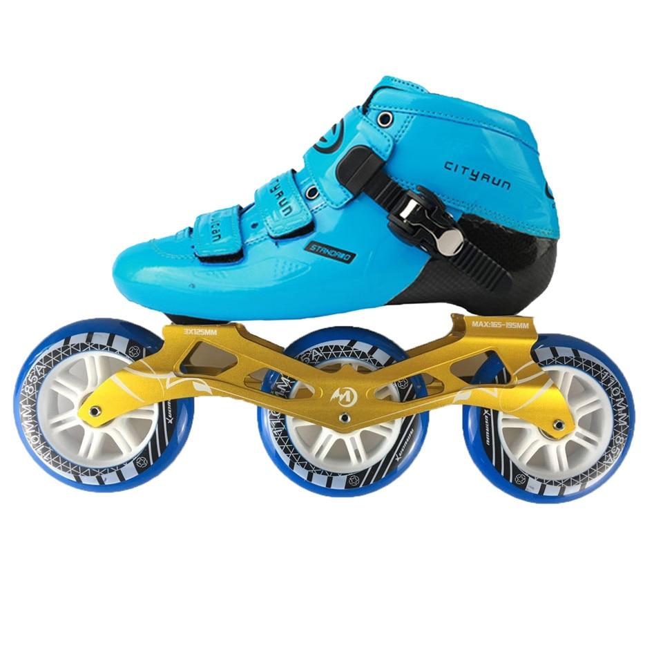 JEERKOOL Cityrun2 Professionnel Vitesse Patins À Roues Alignées Rouleau Chaussures En Fiber De Carbone 110mm roues de patinage Patins pour Enfants Adulte Hommes SH46 - 2