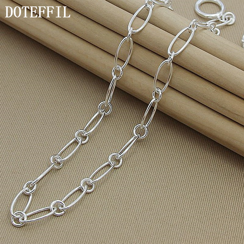 Promotion Price Fashion Jewelry 925 Silver Color OT Buckle Charm Necklace Wholesale Silver 925 Jewelry Christmas Gift