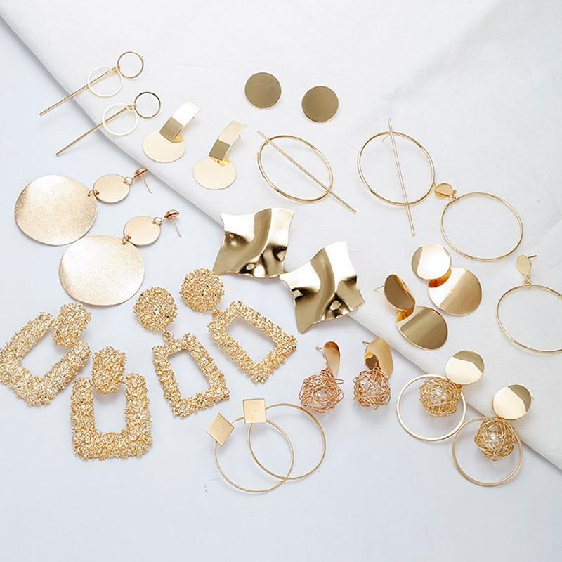 19 Big Geometric Earrings Fashion Statement earrings For Women Hanging Dangle Earrings Drop Earrings modern Jewelry 571 3