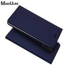 hot deal buy makeulike slim magnetic case for nokia 5 flip cover pu leather mobile phone bags cases for nokia 5 nokia5