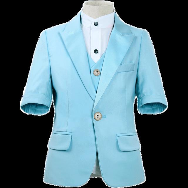Детская одежда Dollbling синяя белая пудра с коротким рукавом летнее платье удобный костюм на день рождения детский костюм с мелкими швами