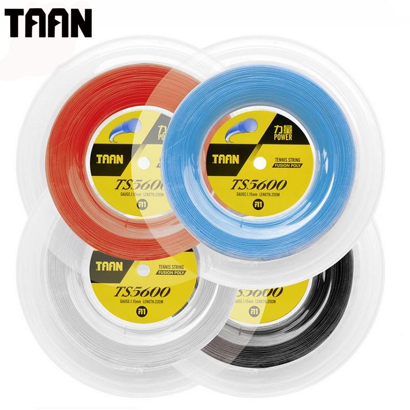 TAAN 1.15mm Hard-Hitting Tennis Racket String Fusion Poly Power String 200m Reel String 50-55 Pounds TS5600