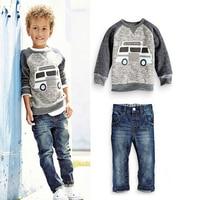 BCS187 Free Shipping Roupa De Bebe Menino 2 Pcs Sport Suit Autumn Style Baby Boy S