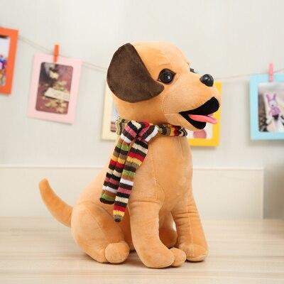 large 42cm cartoon dog with scarf ,squatting dog plush toy soft throw pillow christmas gift b0139 cartoon dog plush pillow shiba inu