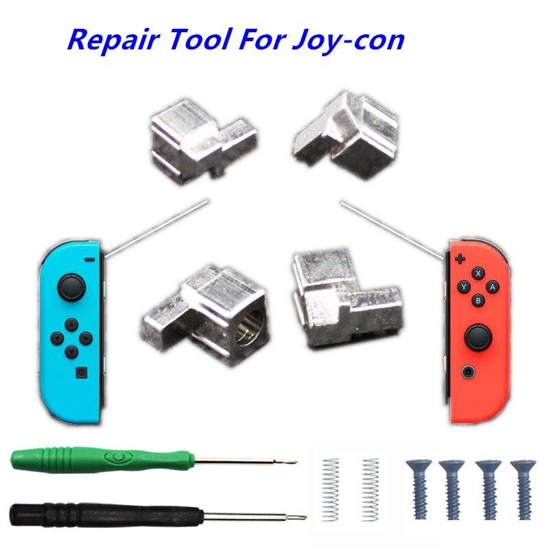 US $7 19 10% OFF Nintend Switch NS Joy Con Metal Lock Buckles Repair Tool  for Nintendos Switch Joy Con Controller w/ Screwdrivers Springs Screws-in