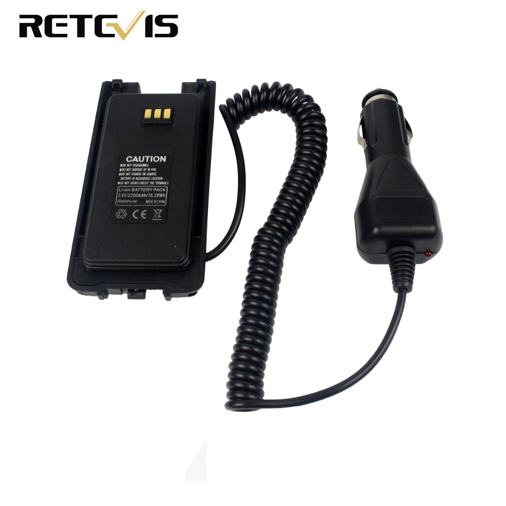 12-24V Car Charger Battery Eliminator For Retevis RT8 RT81 TYT MD-390 Walkie Talkie Ham Radio Hf Transceiver J9115J