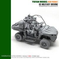 YUFAN Model Original 1/35 American Terrain Vehicles Group Display and Premium YFWW35 1820 KNL Hobby