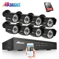 Arsecut New 1080P HD 48 IR Outdoor NightVsion Video Surveillance POE Camera Plug And Play 48V