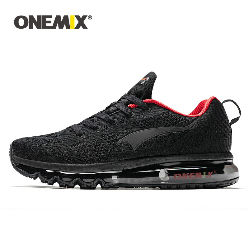 ONEMIX 2019 Running Shoes For Men Soft Air Cushion Breathable Knitted Vamp Male Outdoor Athletic Jogging Shoes Walking Sneakers