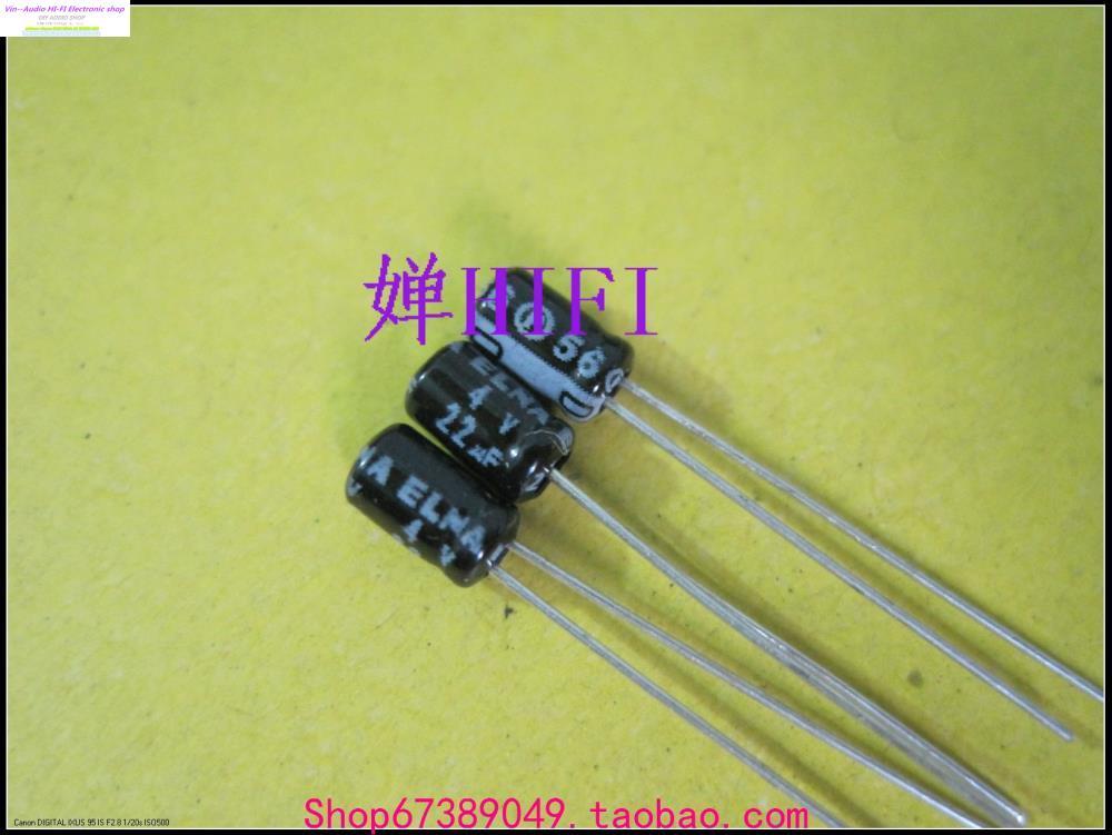 2015 Hot Sale General Purpose Black Kit 50pcs New Elna Imported Genuine Ina Electrolytic Capacitors 4v22uf