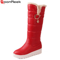 Plus Size 34 43 New 2015 New Russia Keep Warm Snow Boots Platform Shoes Knee