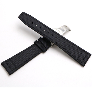 Image 5 - Rolamy Watch Band 20 21 22mm  Nylon Fabric Leather For Tudor Omega IWC Rolex Replacement Wrist  Loops Strap Deployment Clasp